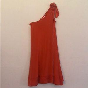 Diane von Furstenberg Orange One Shoulder Dress